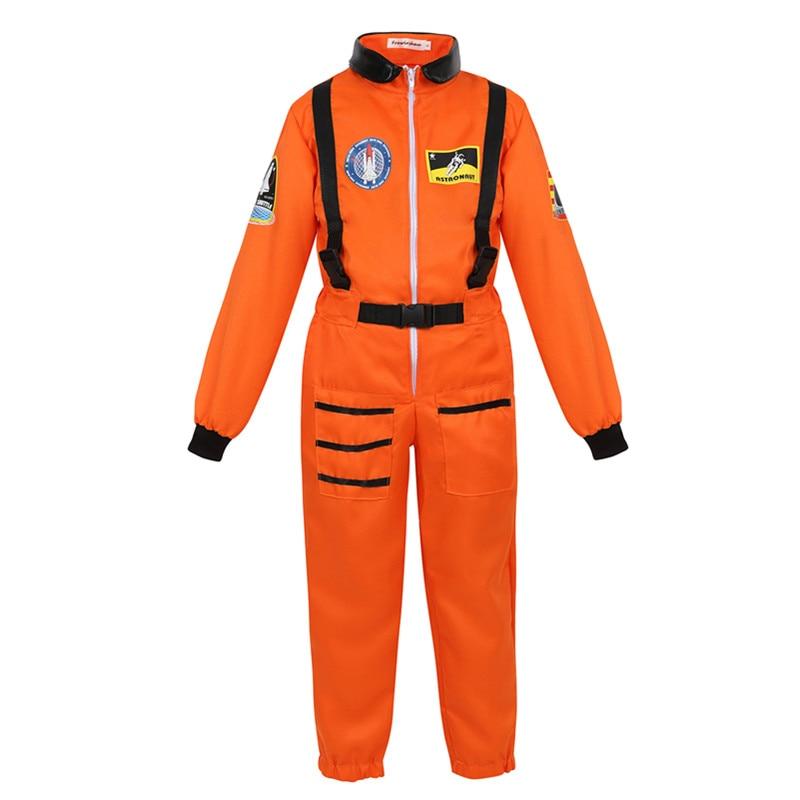 Astronaut Costume for Kids Space Suit for Boys Girls Teens Role Play Set Spaceman Jumpsuit Space Pilot Flight Suit Dress Up
