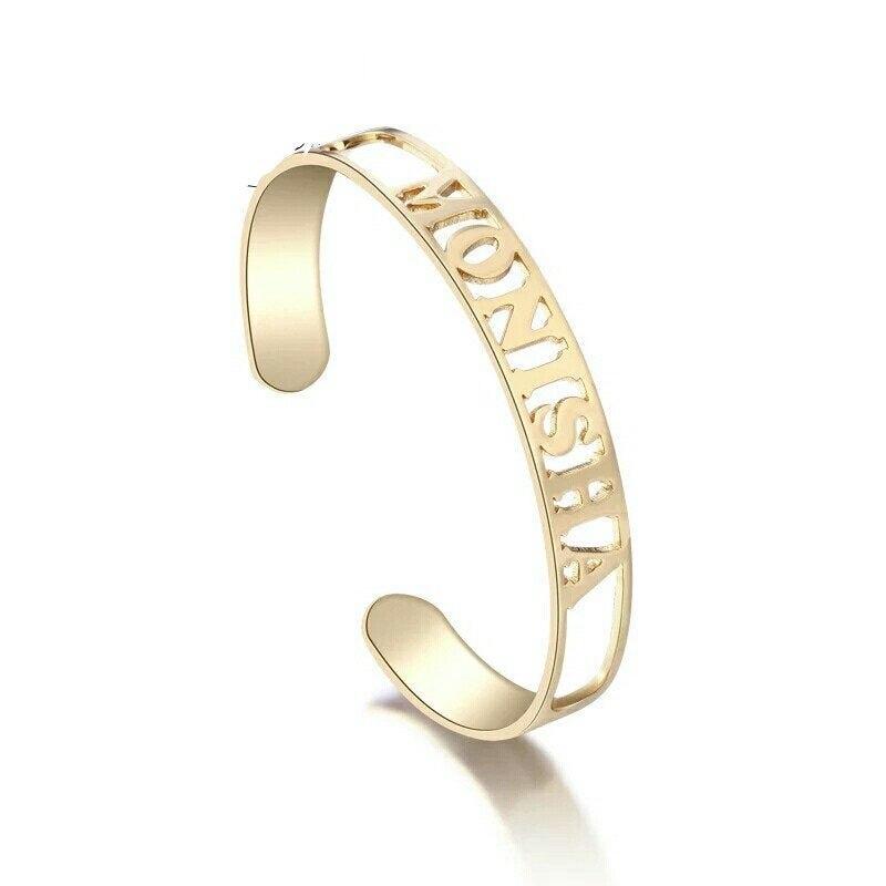 Браслет и браслеты на заказ для женщин, браслет из нержавеющей стали с именем на заказ, бижутерия на заказ, аксессуары для подарка на день ро...
