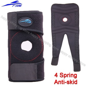1PCS 4 Spring Knee braces & supports Anti-skid Elastic Kneecap massager pain relief sports Patella Brace basketball Knee Support