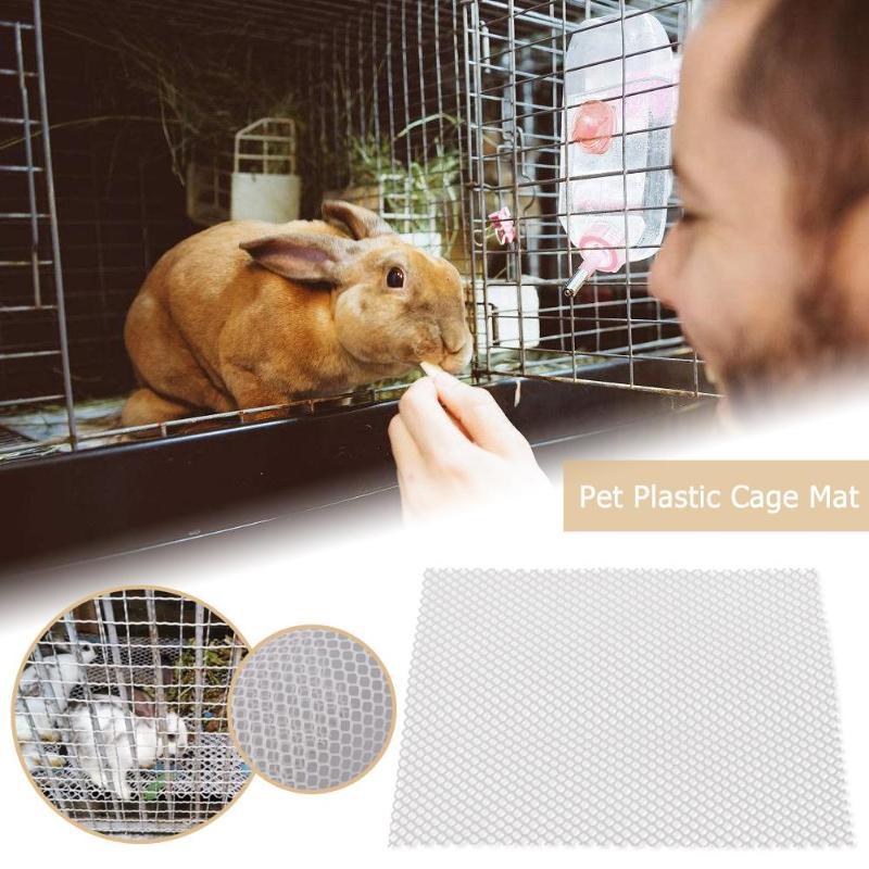 Estera de jaula para mascotas para jaula de hámster, rejillas de conejo, agujeros, almohadillas de pies antideslizantes para mascotas pequeñas, accesorios de jaula para animales, fácil limpieza