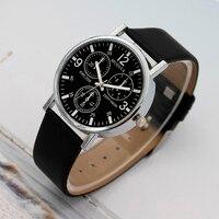 New Fashion 2020 Watches Quartz Men's Watch Blue Glass Leather Belt Watch Men Wrist Watches Cheap Relogio Masculino Hot Sale Q