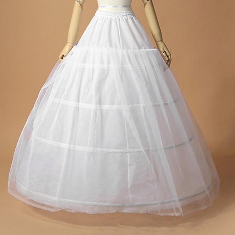 Vestidos de Casamento baratos Vestidos de Baile Underskirts Anáguas Hoops Crinolina Anáguas Nupcial Vestidos Plus Size