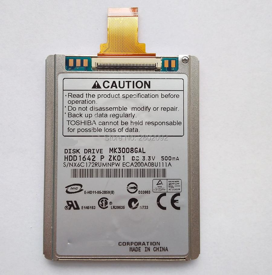 Disco duro y cable de 1,8 pulgadas, interfaz ce ZIF, 30Gb, IPOD...