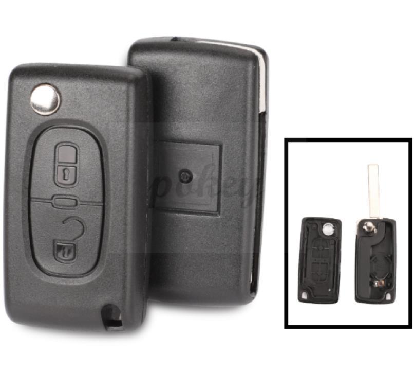 Para citroen original 3 chave de substituição do escudo chaveiro (2011 2016) lâmina va2 Chave do carro    -