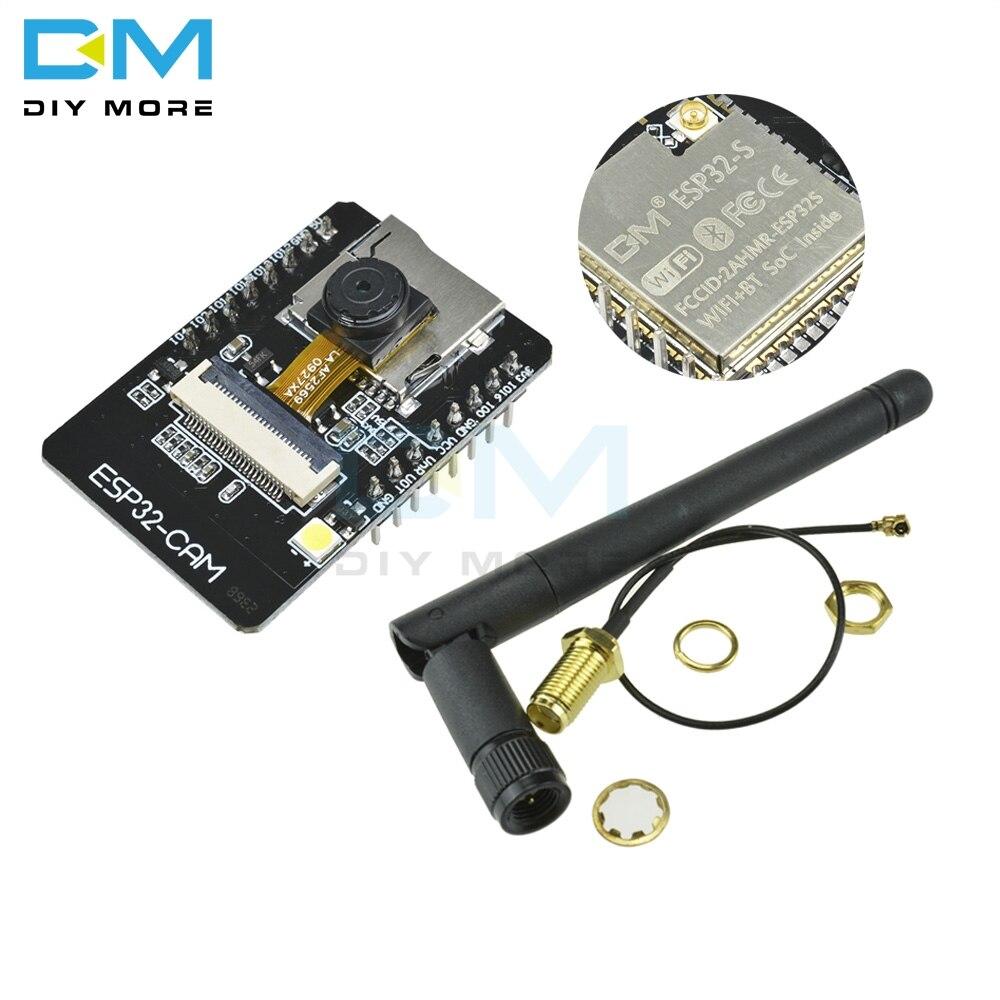 OV2640 ESP32-CAM модуль Bluetooth плата для разработки камеры ESP32 OV7670 + 2,4G Беспроводная SMA антенна NRF24L01 2 дБ усиление + PA CC2500