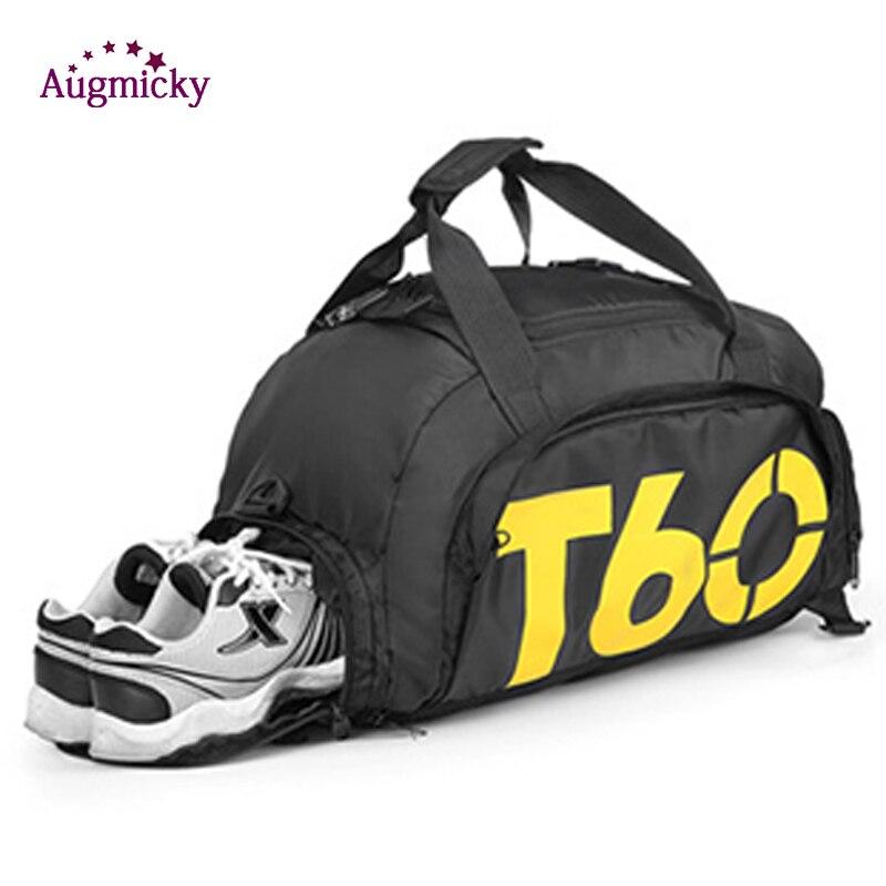 Hommes Sport sac de sport sacs à dos femmes sacs de Fitness voyage sac à main sac à dos en plein air avec espace séparé pour chaussures sac Sport sac à dos
