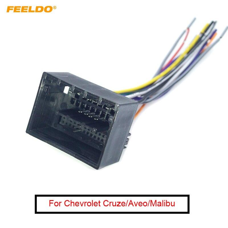 FEELDO adaptateur de harnais pour Chevrolet Cruze   Câble CD/DVD, Installation Audio stéréo de voiture, câble de CD/DVD ISO