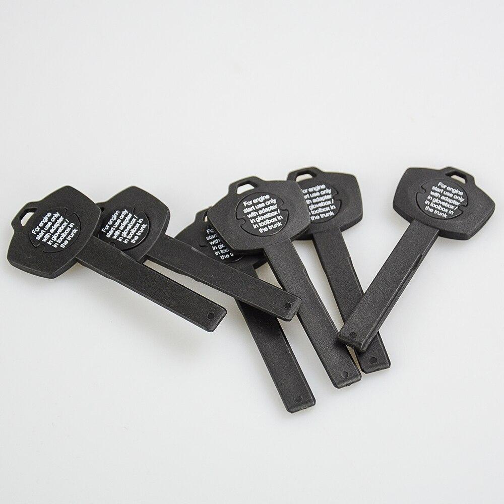 Okeytech-llave de coche con hoja pequeña para BMW X5, X6, E93, E92, E60, llave inteligente con Chip ID44, transpondedor caja de llaves de emergencia