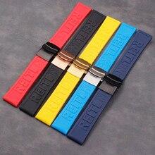 Akcesoria do zegarków męska silikonowy pasek 22mm24mm składana klamra mające zastosowanie do Breitling pani sportowe wodoodporne naturalnej gumy Stra