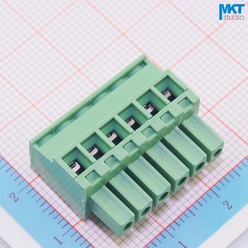 100Pcs 6P B-Type Straight Female Pluggable PCB Electrical Screw Terminal Block