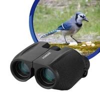 aomekie 10x25 porro binoculars hd optical glass fmc lens telescope for outdoor camping hunting bird watching compact size