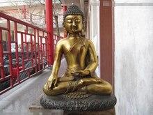 "song voge gem S0142 18""Tibet temple classical Bronze Gild Tathagata Amitabha Sakyamuni Buddha Statue"