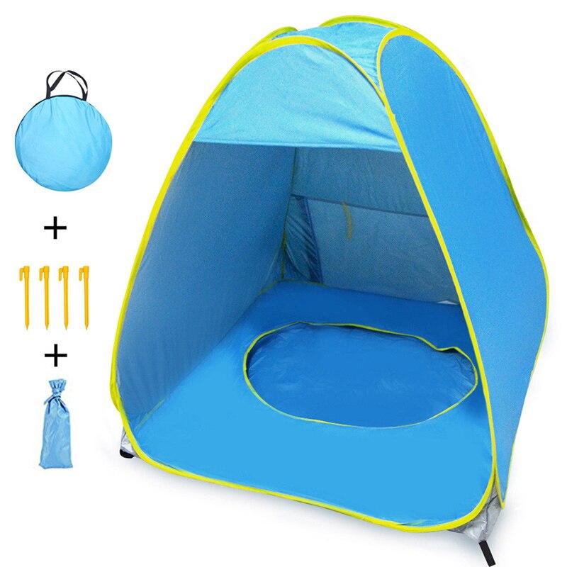 Barraca de praia ao ar livre do bebê quente instantâneo portátil pop up infantil piscina anti-uv sombra abrigo tenda do2