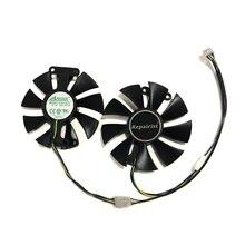PowerColor kırmızı şeytan RX470 RX480 RX580 GPU soğutucu soğutma fanı Radeon kirmizi ejderha AX RX 480 470 580 Video kartları yedek olarak