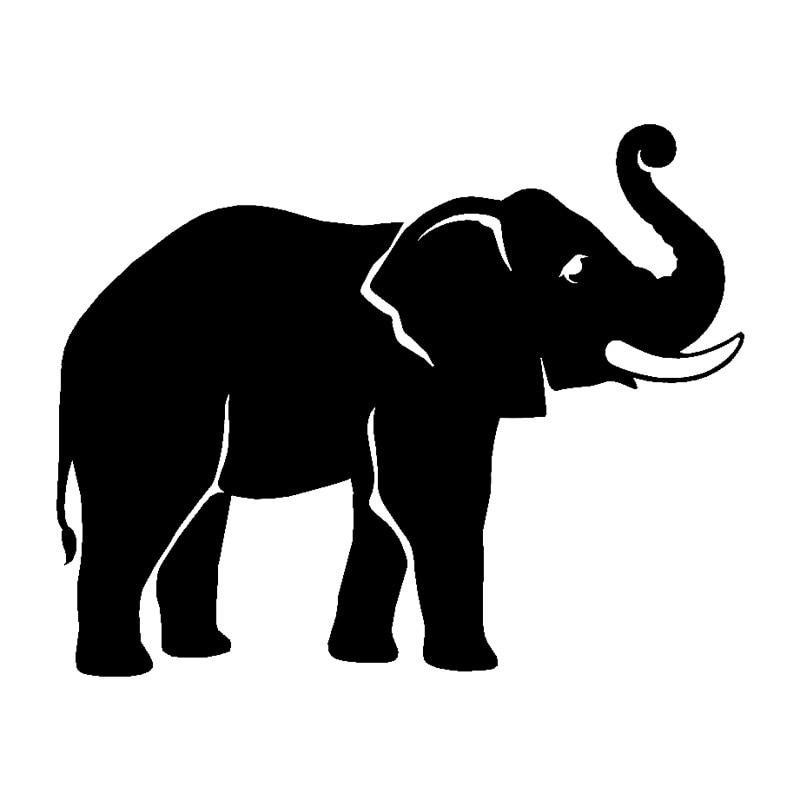 15cm * 12,1 cm elefante moda vinilo coche pegatina accesorios de coche...