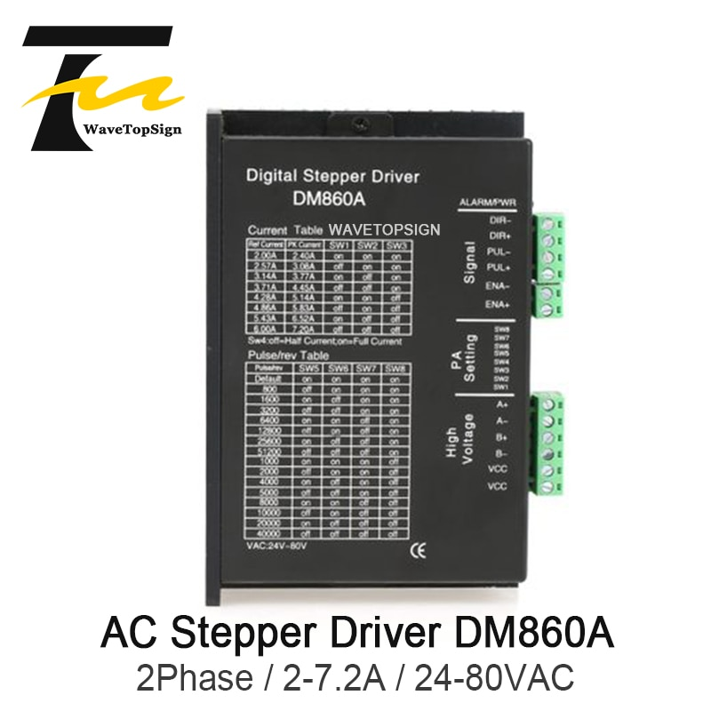 Wavetopsign 2 相ドライバ DM860A 入力電圧 AC24-80V 電流 2-7.2A 一致 86 シリーズステップモータ