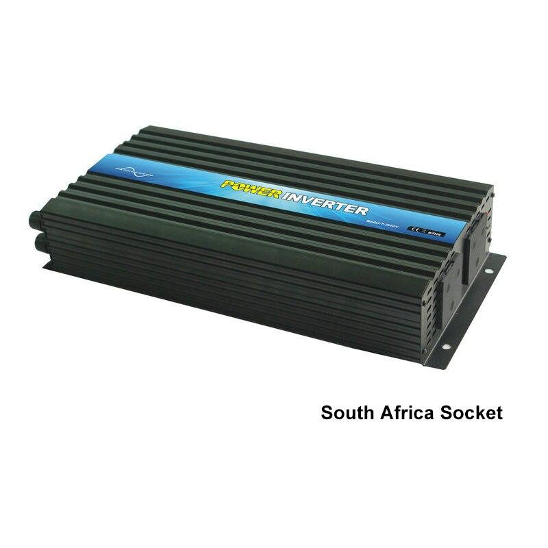 Inversor de potencia máxima 5000w potencia nominal 2500W DC12V/24V/36V/48V a AC110V/220V puro inversor de potencia de onda sinusoidal pantalla digital