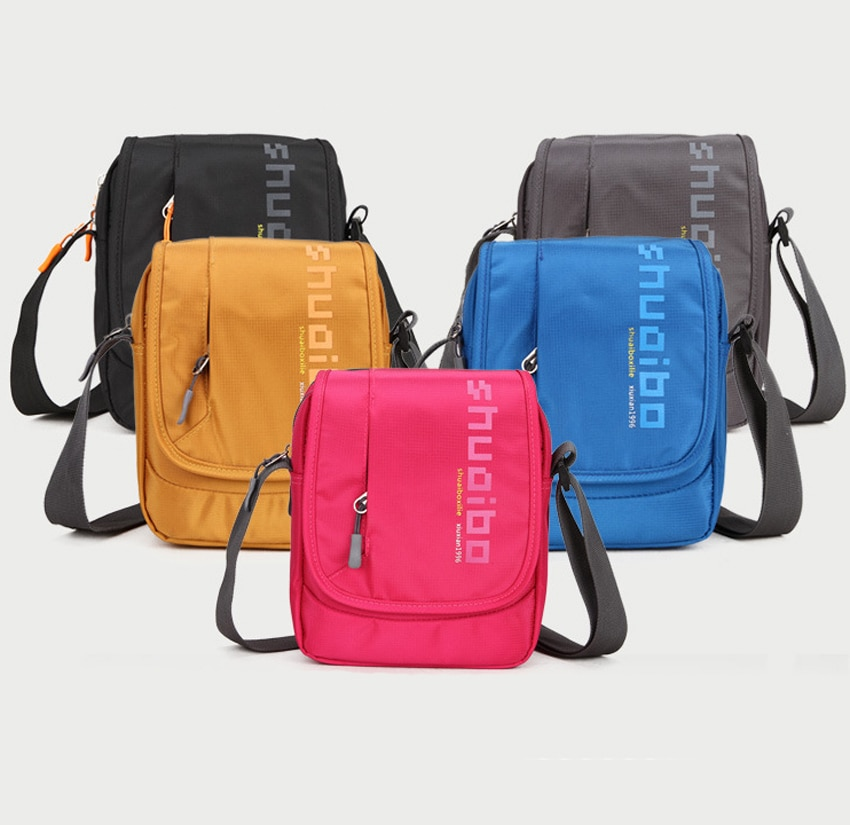 Bolsa de hombro para tableta portátil de nailon impermeable ShuaiBo, maletín de mensajero con manga para Ipad