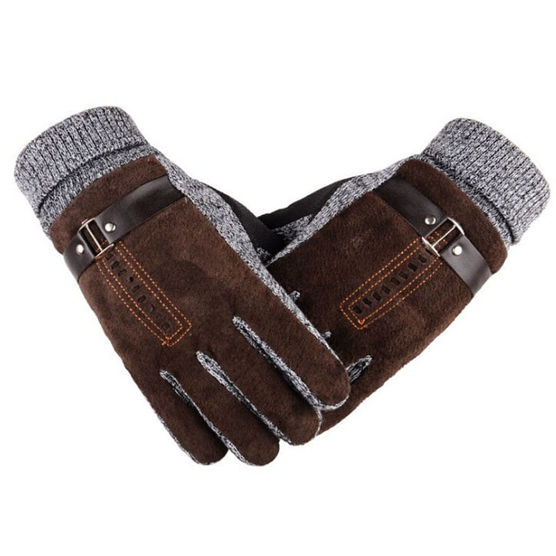 low temperature resistant gloves liquid nitrogen lng natural gas ice storage antifreeze thick warm cold gloves for adult Winter Men's Warm Gloves Natural Suede Leather Gloves Mittens Male Thick Thermal Leather Gloves Men Knitted Guantes Z05
