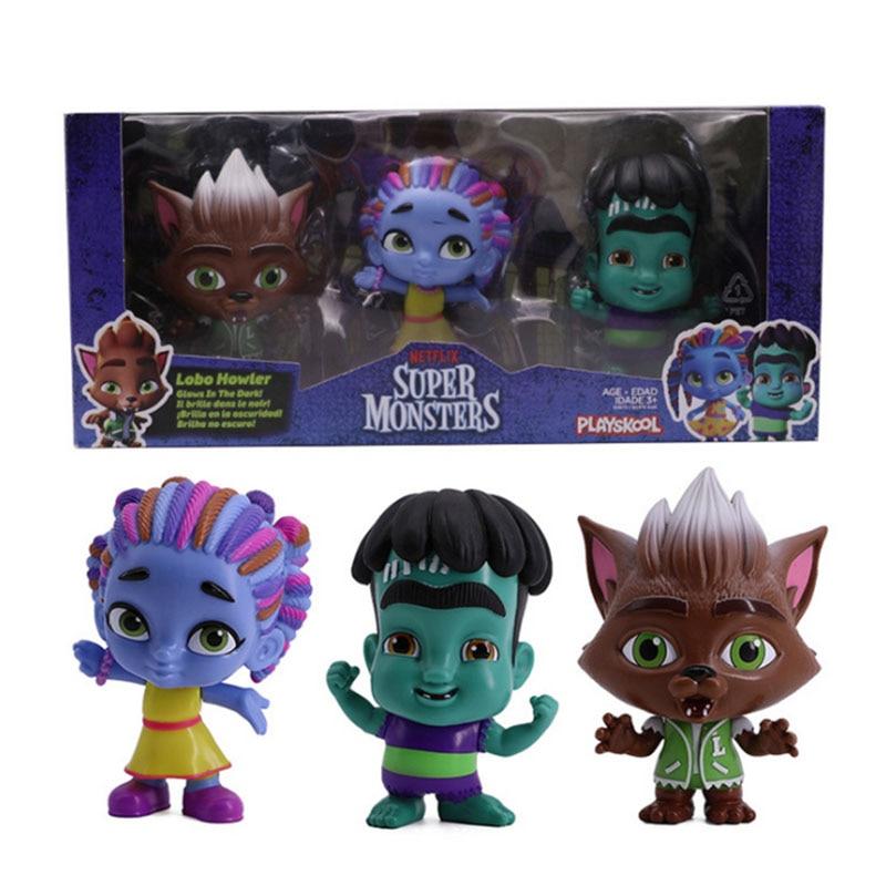 6pcs/set Monster Figures Toy Super Doll PVC Anime Action Figure Model Toys Doll For kids Christmas Gift недорого