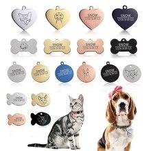 Nuevo 1 Uds gato Etiqueta de perro-perro ID tag grabado gratis de perro, Collar de perro de encanto para Colgante para Nombre collar con hueso collar para cachorro, Gato Collar