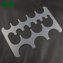 Ceinture queue en cuir Semi-circulaire   19 tailles, module cuir PVC fait main, bricolage ceinture en demi-circulaire, modèle de traçage