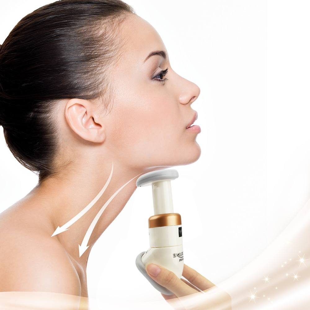 Chin Slim Massager Mini Portable Neck Slimmer Reduce Double Chin Neckline Exerciser Thin Skin Jaw Body Massager Health Care Tool