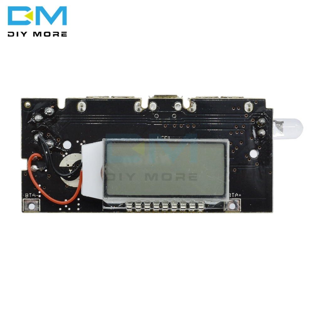 Dual USB 5V 1A 2.1A, Banco de energía móvil 18650, cargador de batería, módulo de energía PCB, tablero de carga Solar LED LCD para Módulo de teléfono DIY