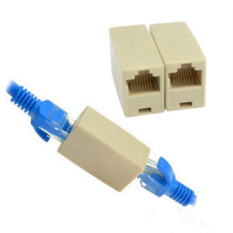 Elistooop 10 Uds RJ45 Cat5 8P8C conector acoplador para extensión de banda ancha Ethernet cable de red LAN Joiner extensor Plug