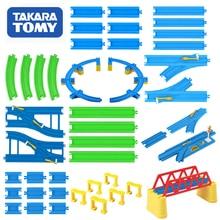 Takara Tomy Plarail Trackmaster Binari del Treno Ferrovia di Plastica Parti di Accessori Curva/Diritto/Blocco/Ponte/Travi Giocattoli nuovo