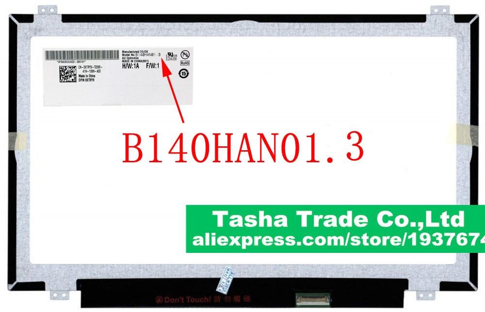 B140HAN01.3 AU Optronics AUO Tela Do Laptop LCD Glossy eDP 30pin Original Novo