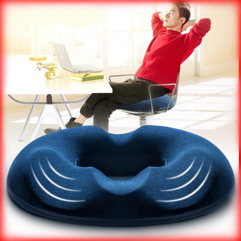 Cojín de espuma viscoelástica para silla de ruedas, cojín ortopédico para masaje de hemorroides, alivio del dolor de coche y oficina