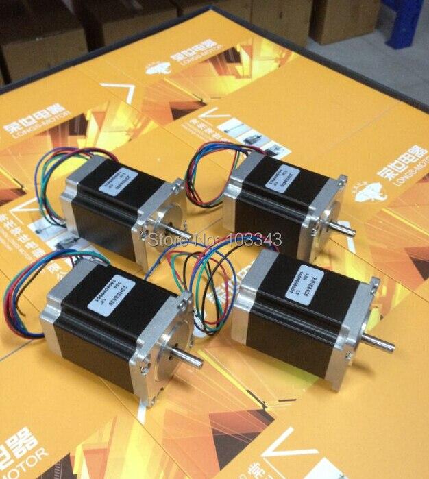 4 piezas Nema 23 motor paso a paso 272 oz en a 4 cables enrutador CNC/KIT corte grabado láser buena calidad-motor largo