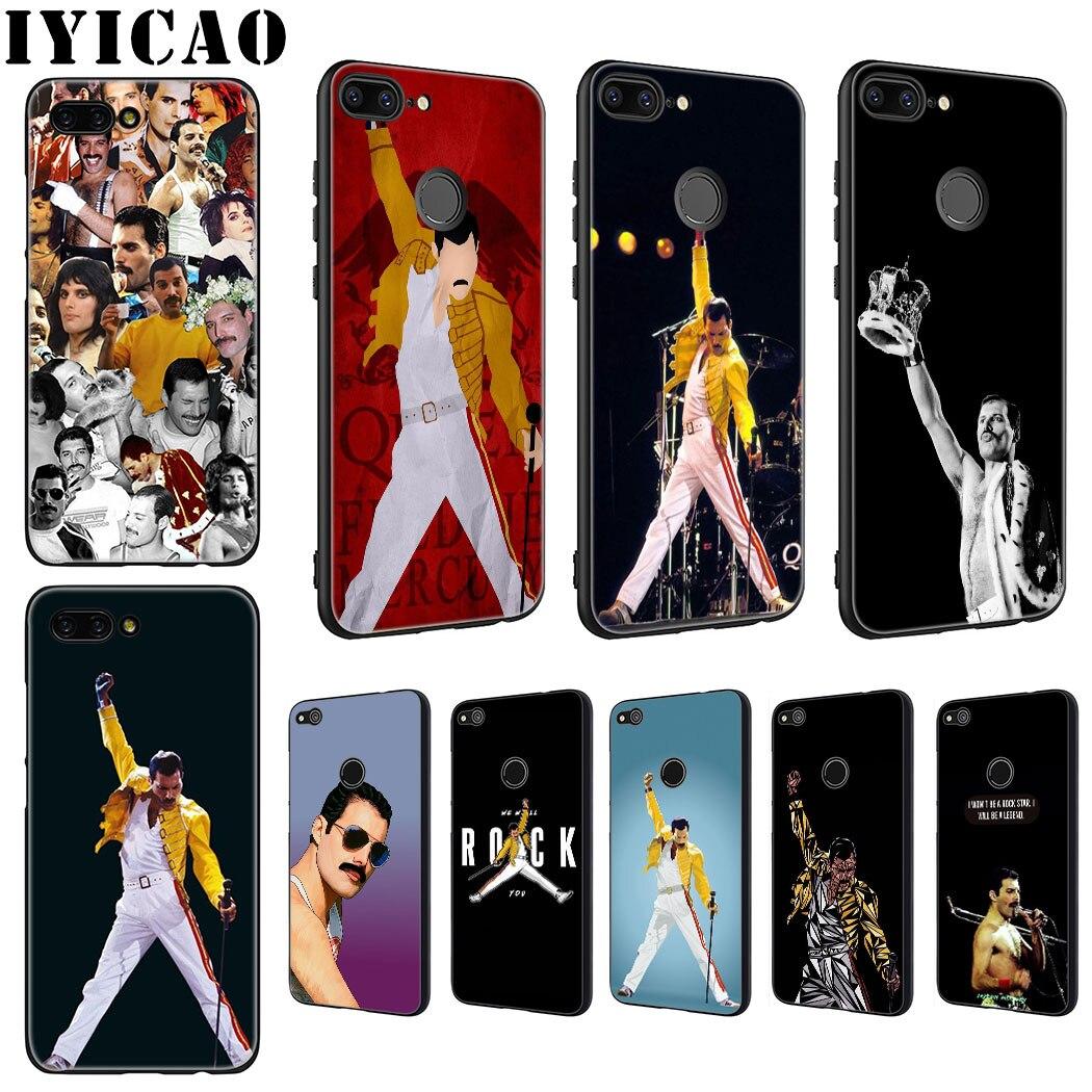 IYICAO Freddie Mercury Rainha Suave Caixa Do Telefone para Huawei Honra 6A 7A 9X20 Pro 7C 7X8 9 10 Lite 8X 8C Nota 10 Vista Caso 20