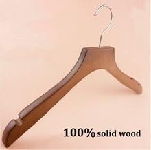 Cintre en bois de marque pour femmes   38x2CM, cintres en tissu avec une épaule large, 100% solide, 5 pièces/lot, livraison gratuite