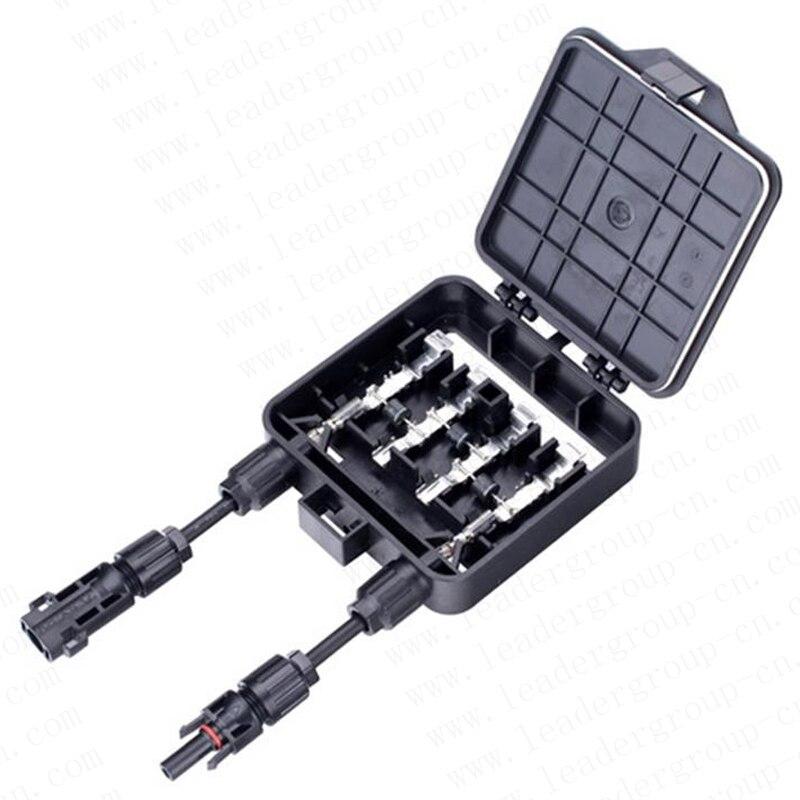 50 قطعة/الوحدة عالية الأداء 4 القضبان الشمسية PV صندوق وصلات مقاوم للماء IP65 الموحد صندوق مع 4.0mm2 كابل لوحة طاقة شمسية XH0196