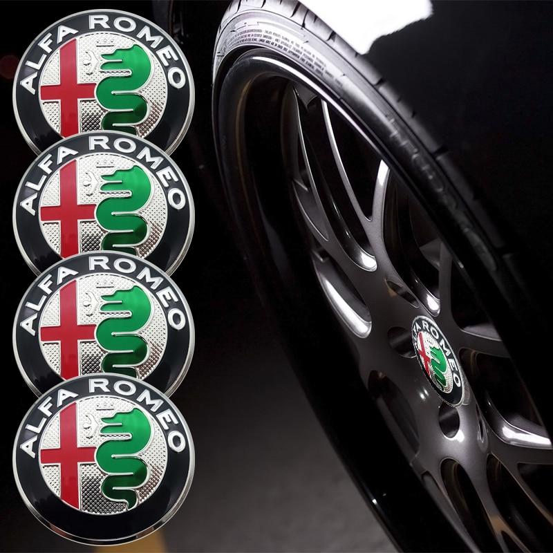 Tapacubos de centro de rueda de coche de 56,5mm, pegatina de cubierta, emblema de llanta, insignia para Alfa Romeo Giulietta Spider GT Giulia Mito 147 156 159