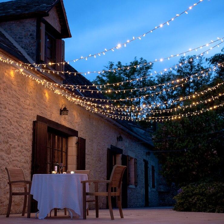 10M/20M/30M/50M/100M guirnalda de luces LED para exteriores guirnalda de luces para fiesta para el hogar boda Navidad Eventos Decoración