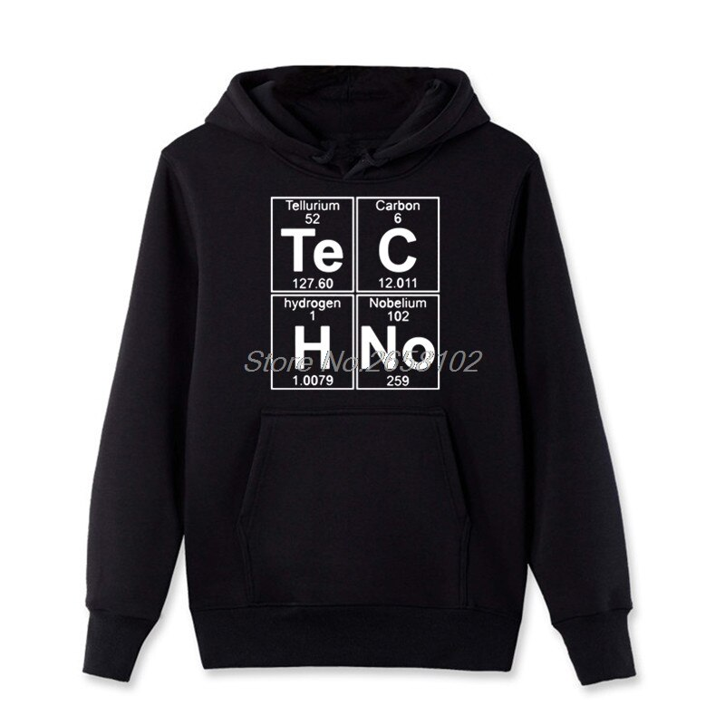 Neue Lustige Grafik Hoodies Mens Te C H Keine Techno Pop Musik Fleece Mit Kapuze Frühling Baumwolle Pullover Sweatshirt Hip Hop mantel