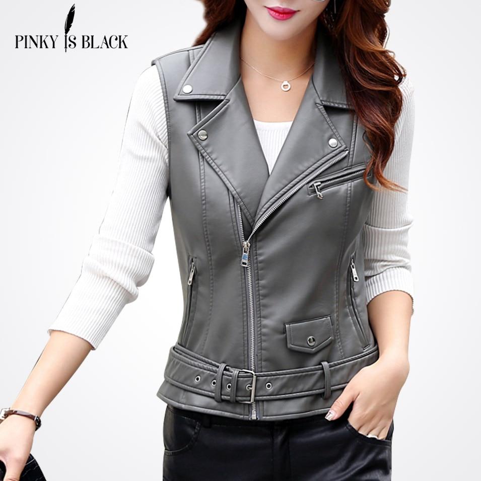 PinkyIsBlack женский жилет из искусственной кожи, Женский Тактический кожаный мотоциклетный жилет, жилет с карманами, жилет, женский жилет без ру...