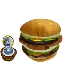 ymjywl CD Case Double Burger CD Bag Cartoon Plush Toys 40 Disc Capacity Bag Can Stored CD VCD DVD CD-R CD-RW Free Shipping