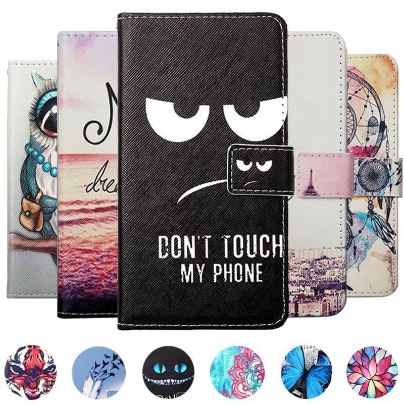 For Doogee Y8 BL5500 S55 Lite BL9000 V X10S X11 X50L X53 X55 X60L X70 X80 Y7 Plus PU Painted flip cover slot phone case
