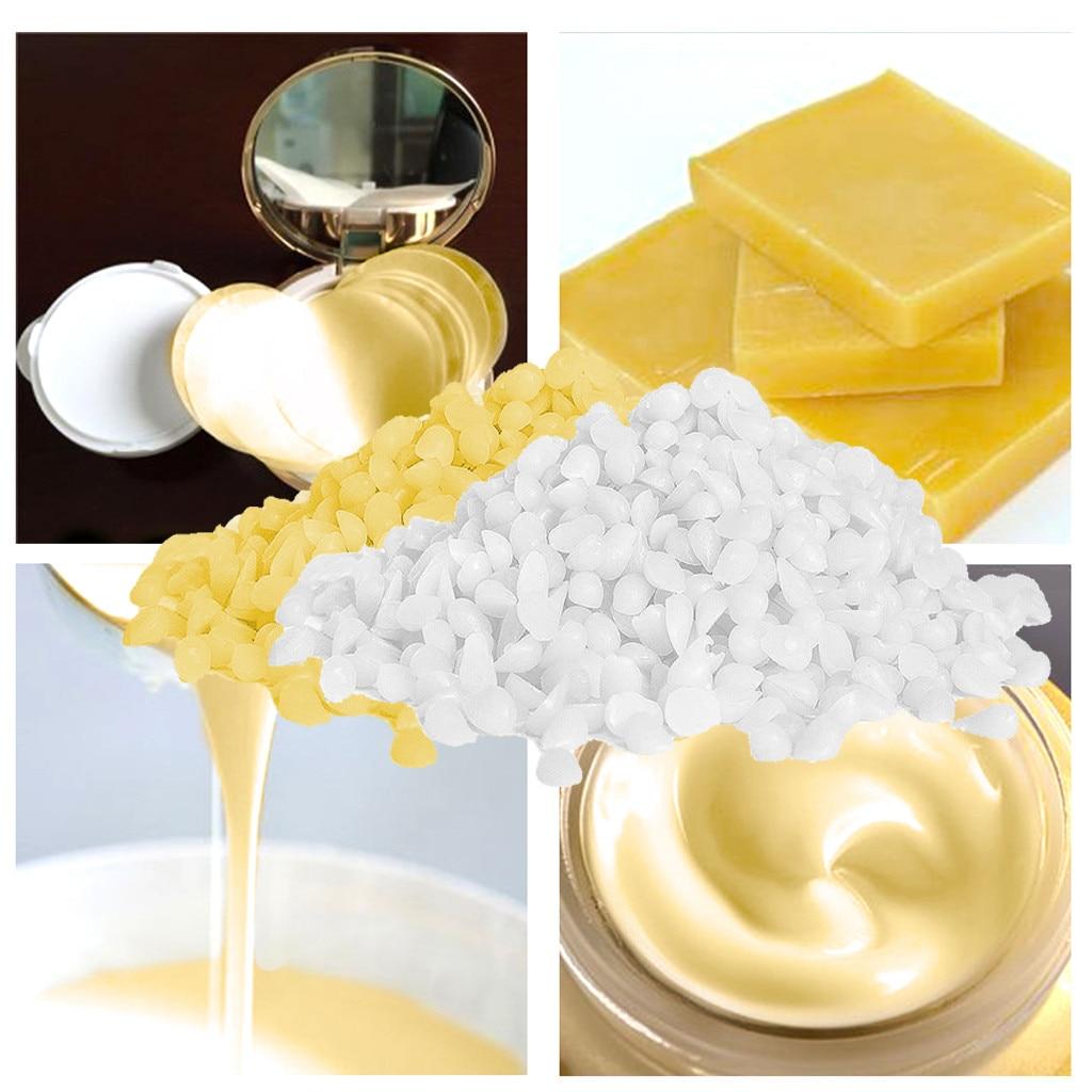 Blanco/amarillo cera de abejas DIY cera vela que hace pintalabios Material puro Natural No se ha añadido cera de soja cera vela jabón que hace suministros