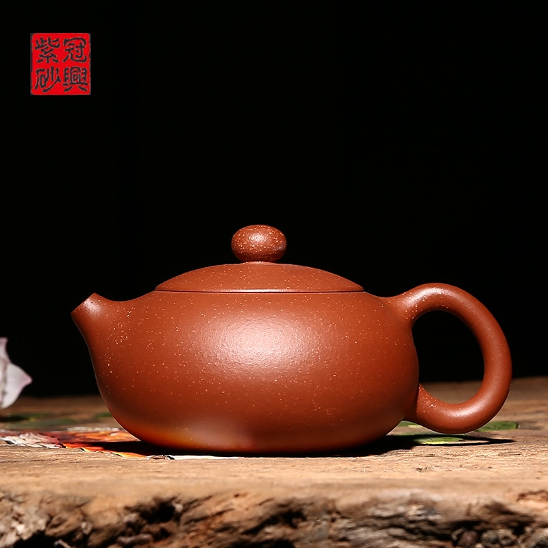 Yixing-إبريق شاي يدوي ، جمال Xishi ، مواد خاصة ، رمال خام