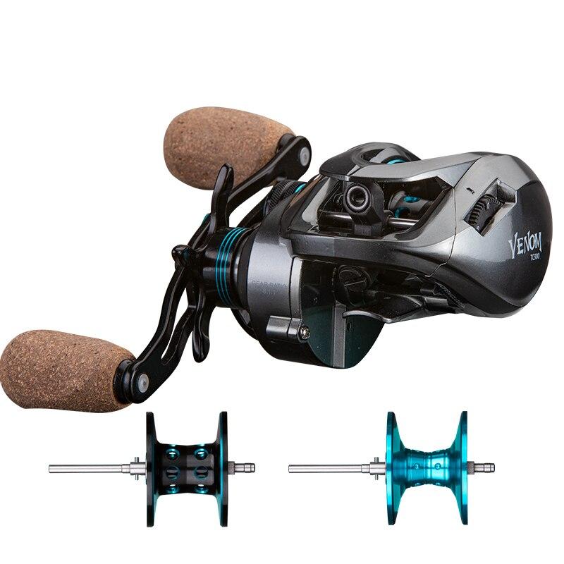 OBSESSION coulée moulinets de pêche filature glisser Max 8kg 11 + 1BB 8.11 haute vitesse BaitCasting bobine eau salée gabarits bobine