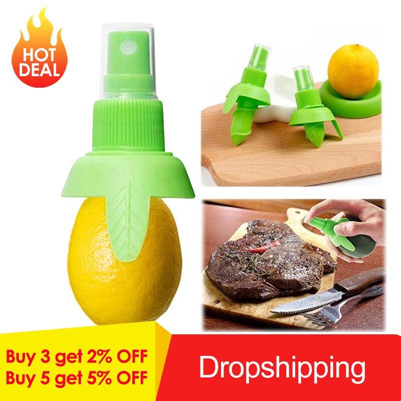 1/2 uds, rociador de limón creativo, zumo de fruta fresca, Citrus Mist Orange, exprimidor de zumo de naranja, utensilios de cocina