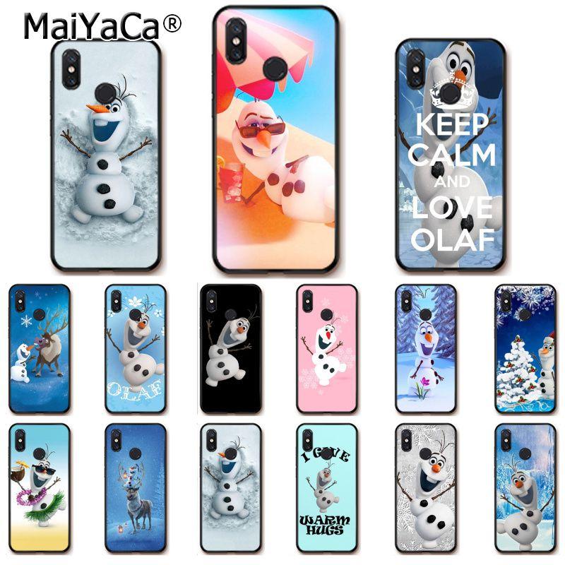 MaiYaCa cute olaf snow man Coque Shell Phone Case for Xiaomi Redmi8 4X 6A S2 7A 5A Redmi 5 5Plus Note5 7 Note8pro