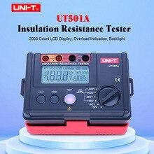 UNI-T ความต้านทานฉนวน Tester Meter UT501A Megger Earth ความต้านทานแรงดันไฟฟ้า Tester Megohmmeter โวลต์มิเตอร์