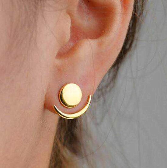 ¡Novedad de 604! pendientes de temperamento minimalistas, pendientes Brincos de Metal modernos para mujer, joyería de regalo E5333