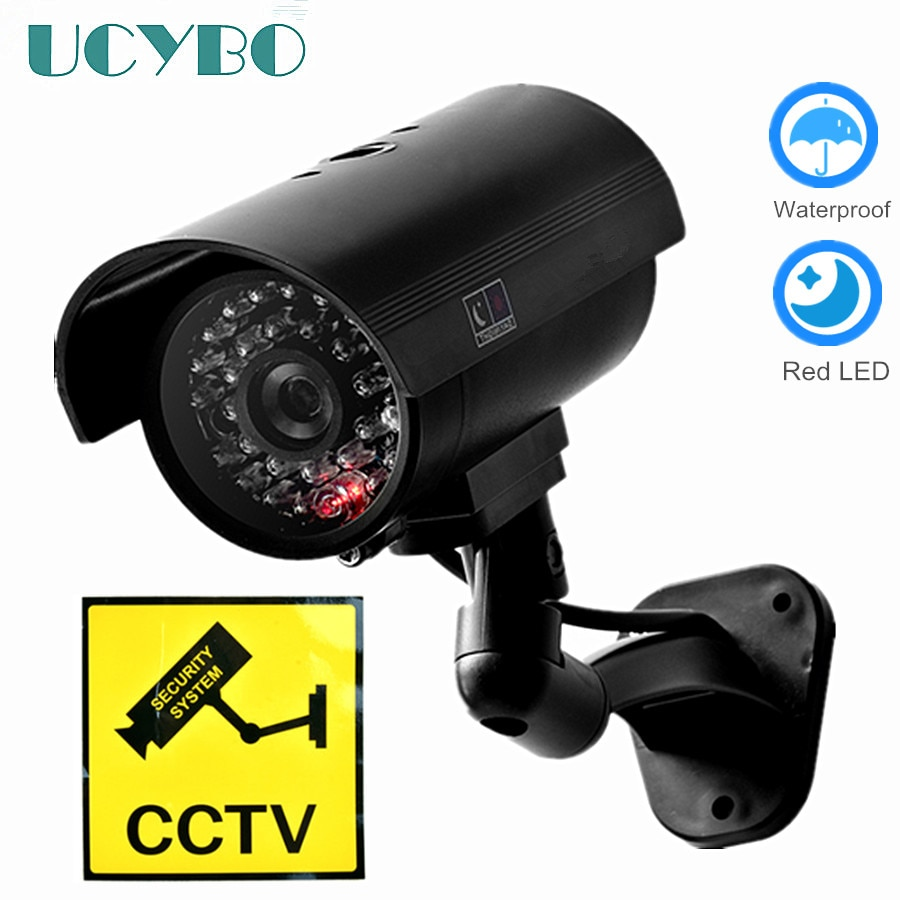 Fake Dummy camera security CCTV outdoor waterproof Emulational Decoy IR LED wifi Flash Red Led dummy video surveillance Camera